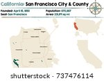 large and detailed map of... | Shutterstock .eps vector #737476114