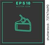 dessert icon vector. cake... | Shutterstock .eps vector #737476690