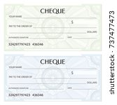 check  cheque   chequebook... | Shutterstock .eps vector #737477473