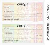 check  cheque   chequebook... | Shutterstock .eps vector #737477500