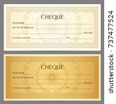 check  cheque   chequebook... | Shutterstock .eps vector #737477524