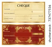 check  cheque   chequebook... | Shutterstock .eps vector #737477536