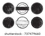 grunge post stamps.vector... | Shutterstock .eps vector #737479660