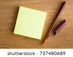 empty place on the sticky notes ... | Shutterstock . vector #737480689