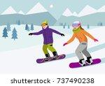 flat vector illustration of... | Shutterstock .eps vector #737490238