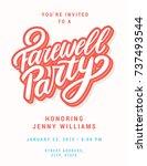 farewell party invitation...