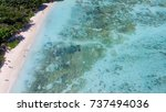 overhead aerial view of anse... | Shutterstock . vector #737494036
