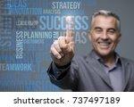 successful smiling businessman...