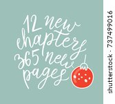 new chapters  new pages. new... | Shutterstock .eps vector #737499016