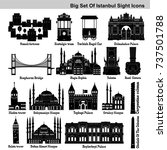 big icon set of istanbul's... | Shutterstock .eps vector #737501788