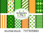 cute set of st. patrick's day... | Shutterstock .eps vector #737505883