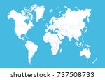 world map | Shutterstock .eps vector #737508733