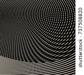 monochrome moire wave pattern.... | Shutterstock .eps vector #737508820