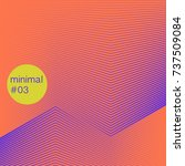 minimal artwork of colourful... | Shutterstock .eps vector #737509084