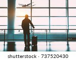 airport terminal ready to board ... | Shutterstock . vector #737520430