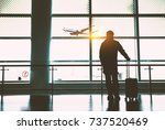 airport terminal ready to board ... | Shutterstock . vector #737520469