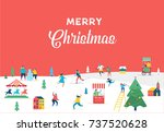 winter wonderland  merry... | Shutterstock .eps vector #737520628
