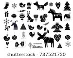christmas illustrations  hand... | Shutterstock .eps vector #737521720