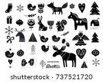 christmas illustrations  hand... | Shutterstock .eps vector #737521720