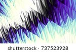 abstract digital fractal... | Shutterstock . vector #737523928