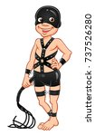 funny cartoon bdsm man with... | Shutterstock .eps vector #737526280