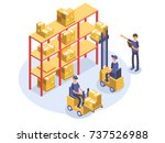 fast delivery concept.... | Shutterstock .eps vector #737526988