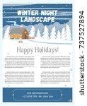 vector illustration of winter... | Shutterstock .eps vector #737527894