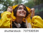 close up portrait of a smiling...   Shutterstock . vector #737530534