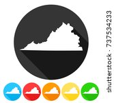 virginia usa symbol icon round... | Shutterstock .eps vector #737534233