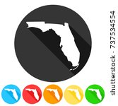 florida usa symbol icon round... | Shutterstock .eps vector #737534554