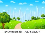 vector illustration of green... | Shutterstock .eps vector #737538274