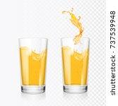 orange juice splash in glass....