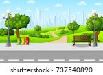 vector illustration of green... | Shutterstock .eps vector #737540890