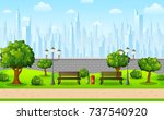 vector illustration of green... | Shutterstock .eps vector #737540920
