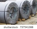 rolls of cold rolled galvanized ... | Shutterstock . vector #737541388
