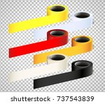 colorful vector adhesive tape... | Shutterstock .eps vector #737543839