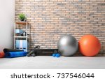 different physiotherapy... | Shutterstock . vector #737546044