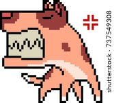 vector pixel art dog crazy...