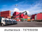 logistics and transportation of ... | Shutterstock . vector #737550358