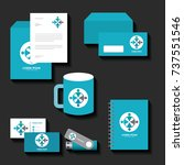 corporate identity template set ... | Shutterstock .eps vector #737551546