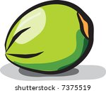 green coconut isolated on white ... | Shutterstock .eps vector #7375519