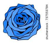 uncommon fantasy blue rose... | Shutterstock .eps vector #737553784