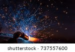 welder  craftsman  erecting... | Shutterstock . vector #737557600