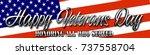 happy veterans day  3d... | Shutterstock . vector #737558704