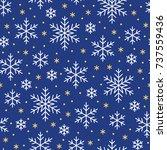christmas  new year seamless... | Shutterstock .eps vector #737559436