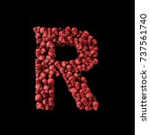 Letter R Red Skull Font. Type...