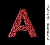 Letter A Red Skull Font. Type...