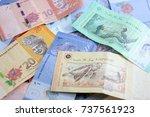 closeup shot of ringgit... | Shutterstock . vector #737561923