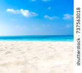 closeup of sand on beach and... | Shutterstock . vector #737563018