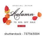 autumn sale background template.... | Shutterstock .eps vector #737565004